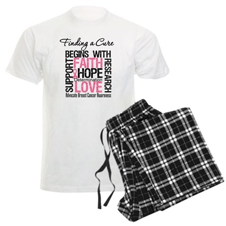 Finding a Cure Breast Cancer Men's Light Pajamas