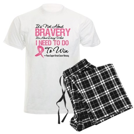 Not About Bravery Breast Canc Men's Light Pajamas