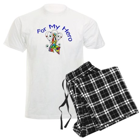 Autism For My Hero Men's Light Pajamas