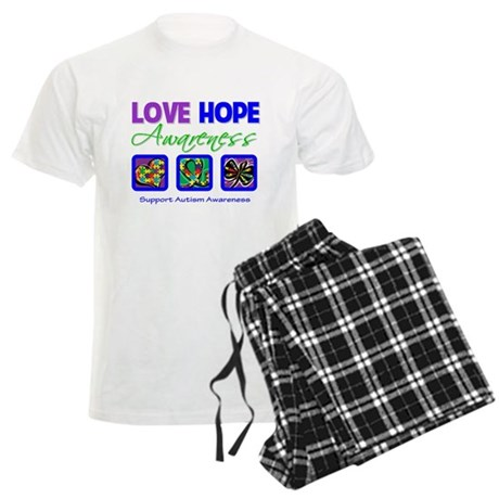 Autism Love Hope Men's Light Pajamas