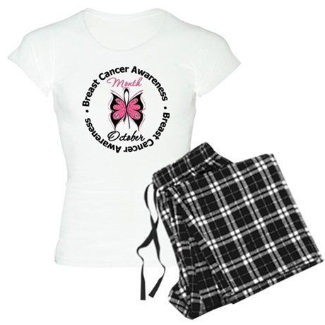 Butterfly Breast Cancer Women's Light Pajamas