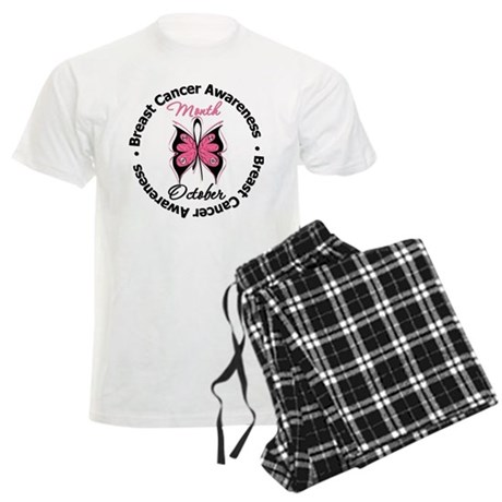Butterfly Breast Cancer Men's Light Pajamas
