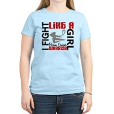 Fight Like A Girl Brain Cancer T-Shirt