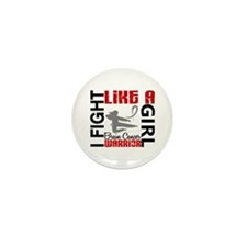 Fight Like A Girl Brain Cancer Mini Button (10 pac