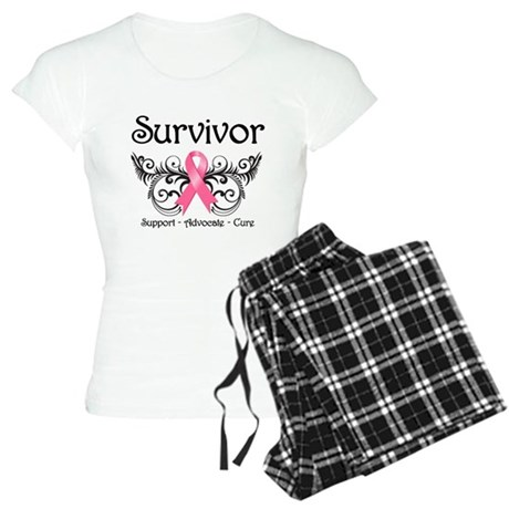 Survivor Deco Breast Cancer Women's Light Pajamas