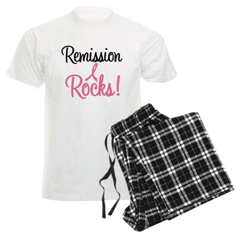 Remission Rocks Breast Cancer Men's Light Pajamas