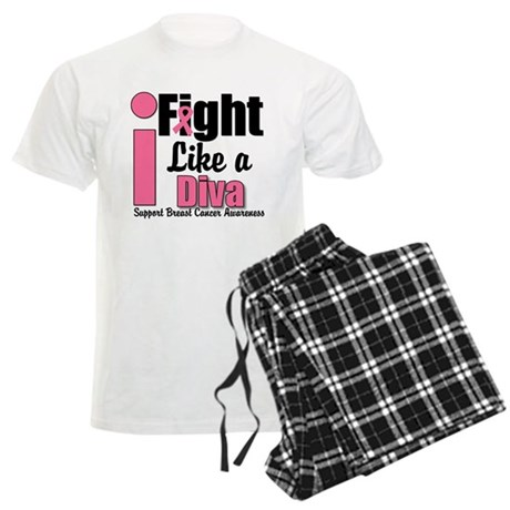 I Fight Like A Diva Men's Light Pajamas