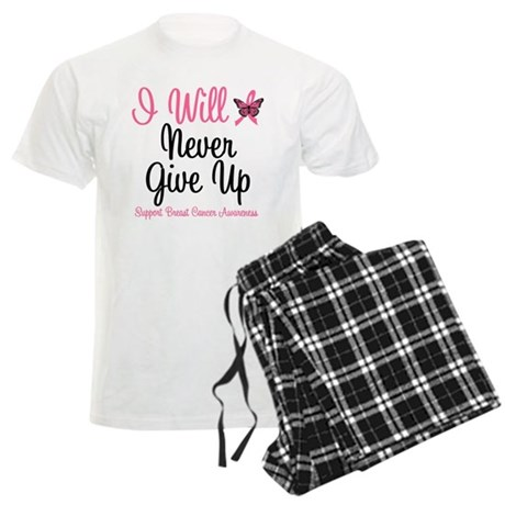 Breast Cancer Never Give Up Men's Light Pajamas