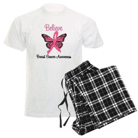Believe Breast Cancer Men's Light Pajamas