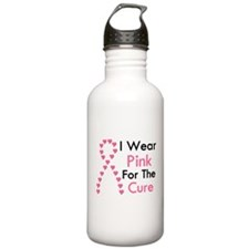 I Wear Pink Water Bottle