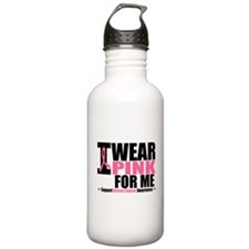 I Wear Pink For Me Water Bottle