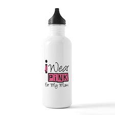 I Wear Pink Ribbon Mom Water Bottle
