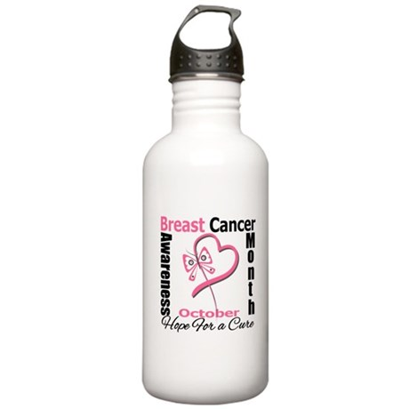 Breast Cancer Month Heart But Stainless Water Bott
