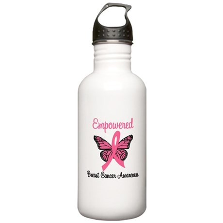 Believe Breast Cancer Butterf Stainless Water Bott