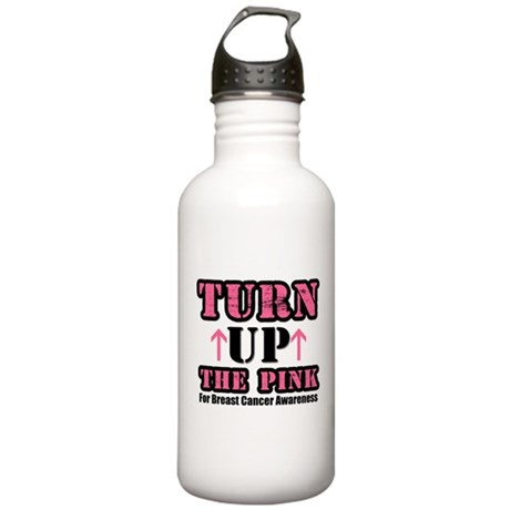 Turn Up The Pink (BC) Stainless Water Bottle 1.0L