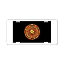 Chartres Labyrinth Fire Aluminum License Plate