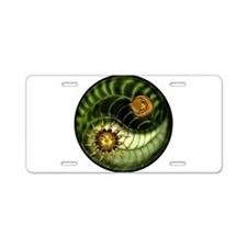 Earth Day Yin Yang Aluminum License Plate