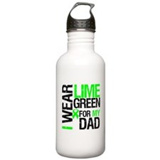 I Wear Lime Green For Dad Water Bottle