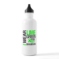 I Wear Lime Green Grandson Water Bottle