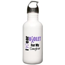 I Wear Violet Ribbon Water Bottle