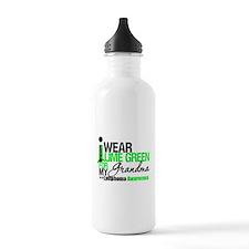 I Wear Lime Green Grandma Water Bottle
