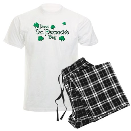 Happy St. Patrick's Day Shamr Men's Light Pajamas