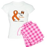 Leukemia Ribbon Grandma Women's Light Pajamas