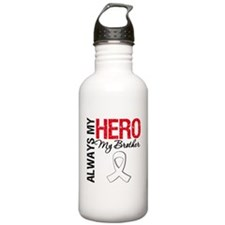 Lung Cancer Hero Brother Water Bottle