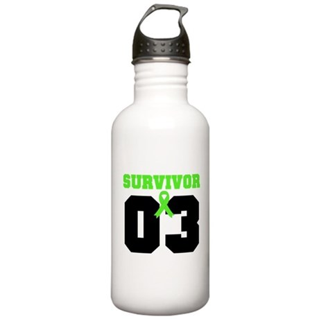 Lymphoma Survivor 3 Years Stainless Water Bottle 1