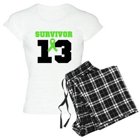 Lymphoma Survivor 13 Year Women's Light Pajamas