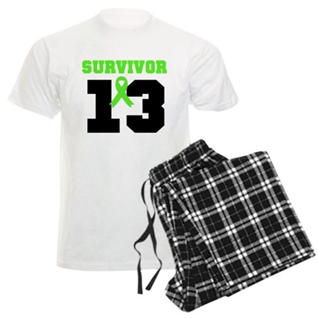 Lymphoma Survivor 13 Year Men's Light Pajamas