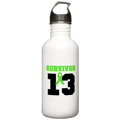 Lymphoma Survivor 13 Year Stainless Water Bottle 1