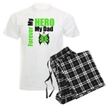 Lymphoma Hero Dad Men's Light Pajamas