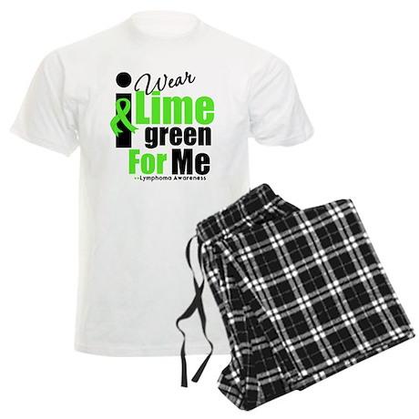 I Wear Lime Green For Me Men's Light Pajamas