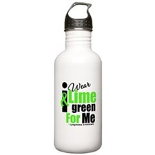 I Wear Lime Green For Me Water Bottle