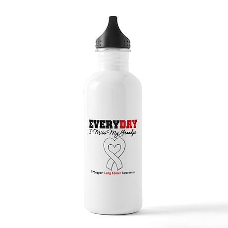 LungCancer MissMyGrandpa Stainless Water Bottle 1.