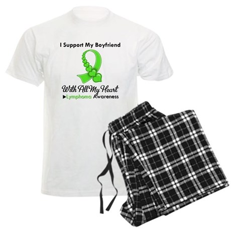 LymphomaSupportBoyfriend Men's Light Pajamas
