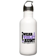 I Wear Violet For My Aunt Sports Water Bottle
