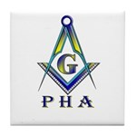 Masonic Prince Hall Tile Coaster