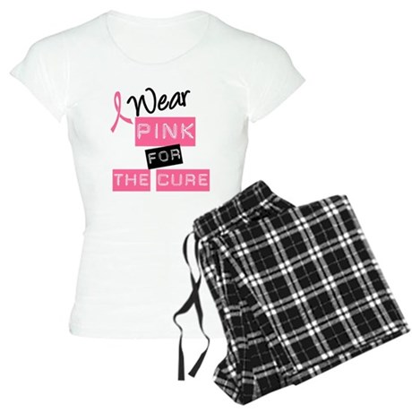 I Wear Pink For The Cure Women's Light Pajamas