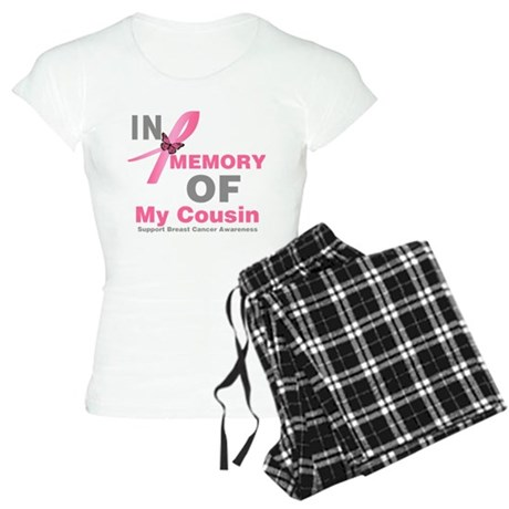 BreastCancerMemoryCousin Women's Light Pajamas