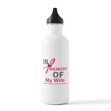 BreastCancerInMemoryWife Water Bottle