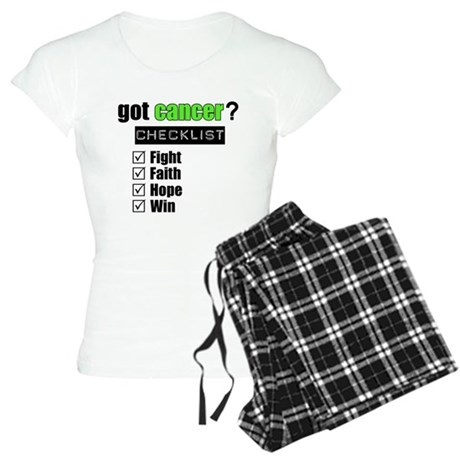 Got Cancer Checklist Women's Light Pajamas