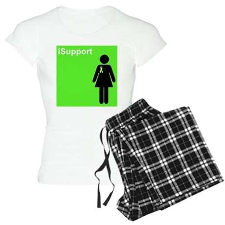 iSupport (lime green) Women's Light Pajamas