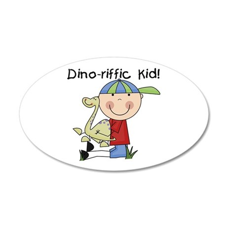 Dino-riffic Kid 22x14 Oval Wall Peel