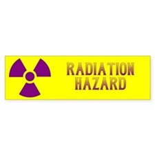 Radiation Hazard Bumper Sticker