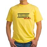 Ocotopi Pi Day Shirt T-shirt Yellow T-Shirt
