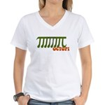 Ocotopi Pi Day Shirt T-shirt Women's V-Neck T-Shir