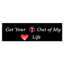 Sticker: Get your religion out of my love life