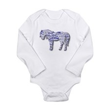 I LOVE HORSES Long Sleeve Infant Bodysuit
